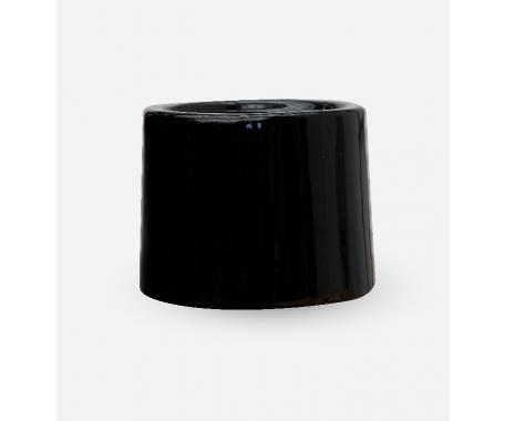 Fiber Round Black - 37x40