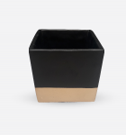 Ceramic Clay Square Black with Gold 12x12